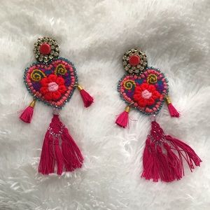 Mexican Embroidered Earrings NEW